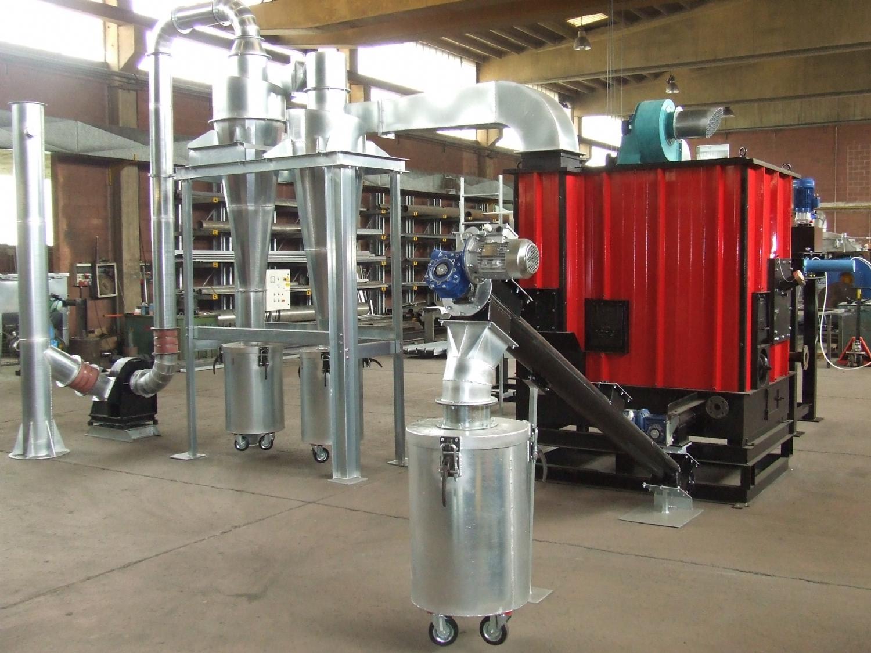 Realizzazione di un impianto pilota per la combustione della biomassa